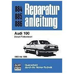 Audi 100 mit 5-Zylinder-Diesel-Motor und Turbodiesel-Motor (1983-86) - Buch