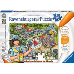 Ravensburger Puzzle tiptoi® Im Einsatz, 100 Puzzleteile, Made in Germany, FSC® - schützt Wald - weltweit