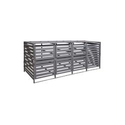 MCW Mülltonnenbox MCW-H62-XXL, erweiterbar, abschließbar grau