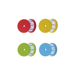 Menzerna Polierschwämme 130-150mm - rot, gelb, grün, blau