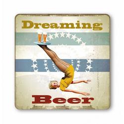 LOGOSHIRT Untersetzer mit Bier-Print bunt