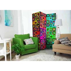 Lichtechter Paravent mit abstraktem Muster 135 cm breit