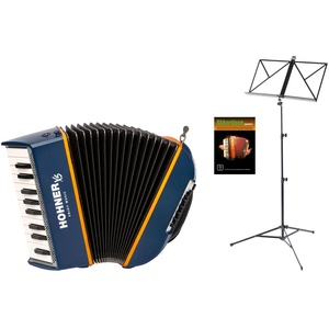 Hohner XS Kinder-Akkordeon Set Blau-Orange