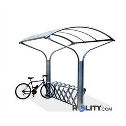 Fahrradständer mit Regenschutz h14056