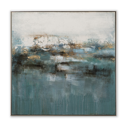 ImageLand Gemälde Abstrakt in Blau, 102 x 102 cm