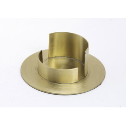 Taufkerzenhalter Messing gold matt, für Ø 5 cm Taufkerzen