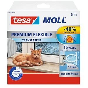 tesa tesaMOLL PREMIUM FLEXIBEL Fenster-Dichtungsband transparent 15,0 mm x 4,0 m 1 Rolle
