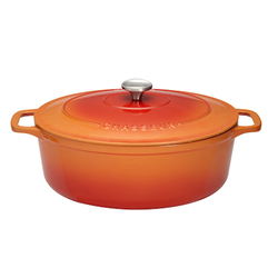 Chasseur Topf oval 5,6 l 31 cm orange