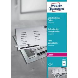 Avery-Zweckform 3480 Selbstklebefolie DIN A4 Farblaserdrucker, Laserdrucker, Farbkopierer, Kopierer
