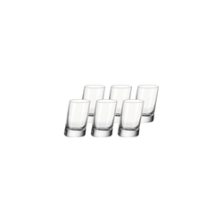 LEONARDO Schnapsglas PISA Stamper Schnapsglas 40 ml 6er Set, Glas