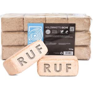 Holzbriketts RUF Eiche, 10kg, Brennholz Kamin Ofen Brikett Kohle Heizen Holz