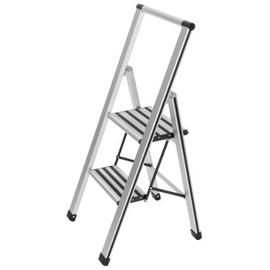 WENKO Alu-Design Klapptrittleiter 2 Stufen