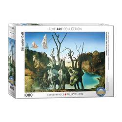 empireposter Puzzle Salvador Dali Schwäne spiegeln Elefanten - 1000 Teile Puzzle im Format 68x48 cm, 1000 Puzzleteile