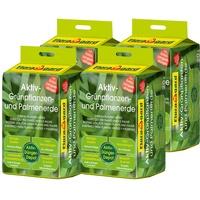 Floragard Aktiv Grünpflanzen und Palmenerde 4 x 20 l