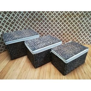 Schrankkorb Regalkorb Aufbewahrungskorb Korb Geschenkbox Wasserhyazinthe 038 Mit