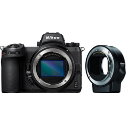 Nikon Z 6II + FTZ Objektivadapter Systemkamera-Body (24,5 MP, WLAN (Wi-Fi), Bluetooth)