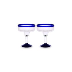 mitienda Cocktailglas Margarita Gläser im 2er Set, Mundgeblasenes Glas