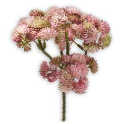 Kunstblume Fetthenne Kunstpflanze Dekopflanze 1 Stk 30 cm pink Fetthenne, matches21 HOME & HOBBY, Höhe 30 cm, Indoor rosa