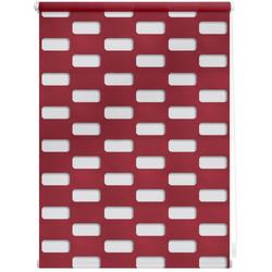 Doppelrollo Duo Rollo Klemmfix Arena, LICHTBLICK, Lichtschutz, ohne Bohren, im Fixmaß rot 110 cm x 150 cm