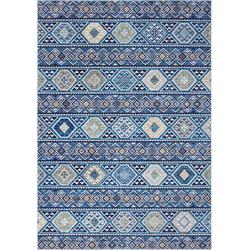 Teppich Anatolian, ELLE Decor, rechteckig, Höhe 5 mm, Orient-Optik, Wohnzimmer blau 120 cm x 160 cm x 5 mm