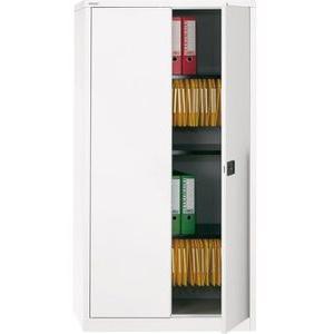 Bisley Aktenschrank E722A03, aus Metall, abschließbar, 91,4 x 180,6 x 40cm, weiß
