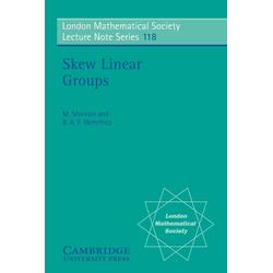 Skew Linear Groups als Taschenbuch von M. Shirvani/ B. A. F. Wehrfritz