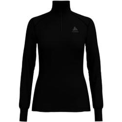 Odlo - T Shirt ML Warm Zip Black - Unterwäsche - Größe: L