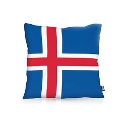 Kissenbezug, VOID, Island Iceland Flagge Fahne Fan Fussball EM WM 80 cm x 80 cm