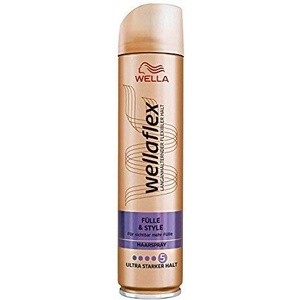 WELLA Wellaflex Haarspray Fülle & style ultra starker Halt, 3er Pack (3 x 250ml)