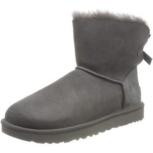 UGG Damen Mini Bailey Bow Ii Schlupfstiefel, Grau (Grey), 42 EU (9 UK)