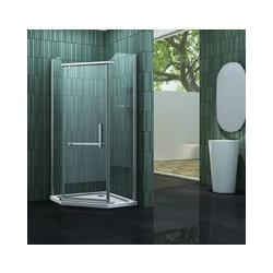 Fünfeck-Duschkabine FIVE 100 x 100 x 195 cm ohne Duschtasse