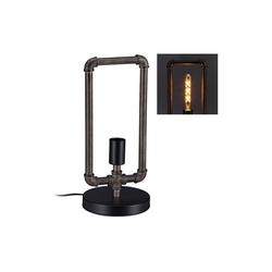 relaxdays Schreibtischlampe Wasserrohr Tischlampe Industrial