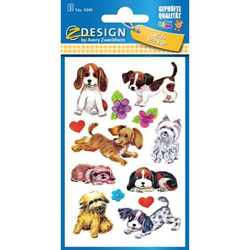 Sticker 76x120mm Papier 3 Bogen Motiv Hunde