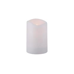 Paul Neuhaus Solar Kerze in weiß mit Flackereffekt, 15 cm