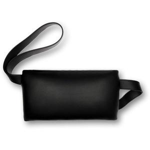 Türstopper/Fensterstopper XXL Kunstleder schwarz, Größe: ca. 21 x 12 cm