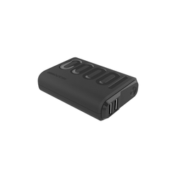Realpower PB-10000PD+ Black Powerbank, Rapid Charge, Power Delivery, 10000 mAh, USB Typ C PD lädt kompatible Notebooks Powerbank