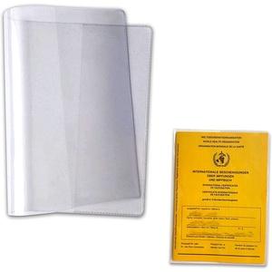 4 Stück Schutzhülle für Internationalen Impfpass - Glasklar, Preiswert & Günstig Impfausweis Impfbuch Hülle Etui (93 mm x 130 mm)