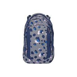 Satch Schulrucksack Sleek Schulrucksack 45 cm blau