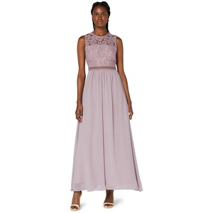 Amazon-Marke: TRUTH & FABLE Damen Maxi-Spitzenkleid, Lila (Qual Lilac), 46, Label:3XL