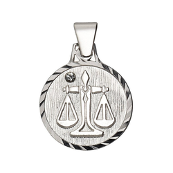 Firetti Sternzeichenanhänger runde Form, diamantiert, mit Kristallstein 7