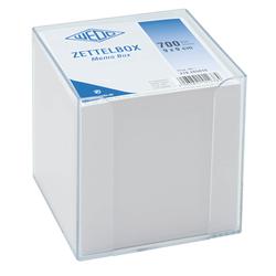 WEDO Zettelbox mit Stiftehalter gefüllt mit 700 Notizzettel Kunststoff