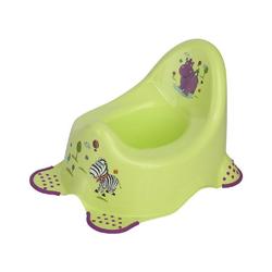 Lorelli Töpfchen Töpfchen Hippo, Anti-Rutsch-Gummi-Füße, lustige Motive, Spritzschutz grün