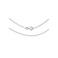 Bella Carina Silberkette rhodiniert 1,4 mm, 925 Silber rhodiniert 55 cm