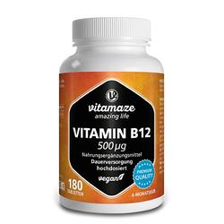 VITAMIN B12 500 µg hochdosiert vegan Tabletten 180 St