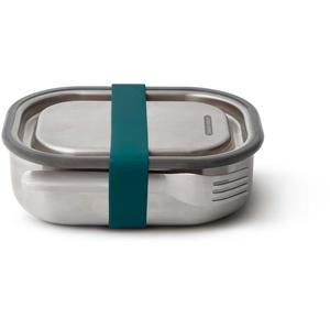 BLACK+BLUM Lunchbox Edelstahl mit Gabel klein 17,5 x 13 x 5 cm ozean