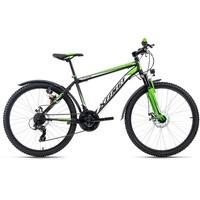 KS-CYCLING KS Cycling Mountainbike ATB Xtinct 21 Gang Shimano Tourney Schaltwerk, Kettenschaltung schwarz