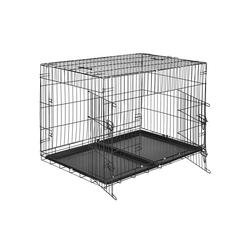 tectake Tiertransportbox Hundebox Gitter tragbar 106 x 70 x 76 cm - 70.0 cm x 76.0 cm x 106.0 cm