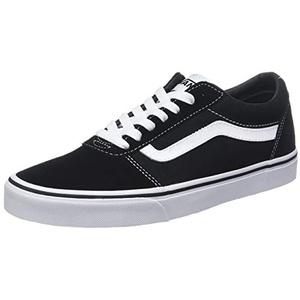Vans Herren Ward Canvas Sneaker, Schwarz ((Suede Black/White C4R), 44.5 EU