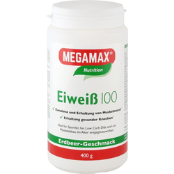 Megamax Eiweiss 100 Erdbeer Pulver