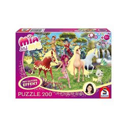 Schmidt Spiele Puzzle Glitzerpuzzle Mia and Me - In Centopia - 200 Teile, Puzzleteile